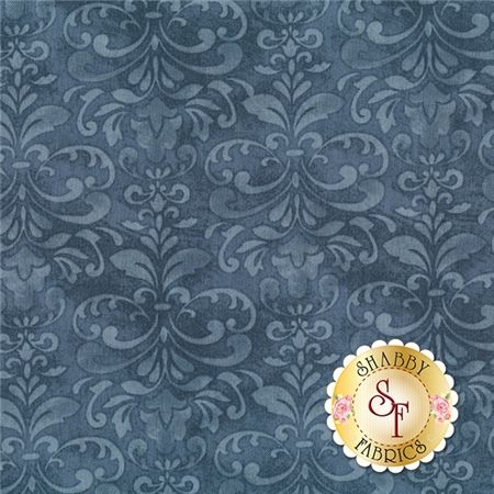 "A Ticket In Hand 42394-444 Damask Blue by Cynthia Coulter for Wilmington Prints: A Ticket In Hand is a collection with European flair by Cynthia Coulter from Wilmington Prints. Width: 43""/44""Material: 100% CottonSwatch Size: 6"" x 6"""