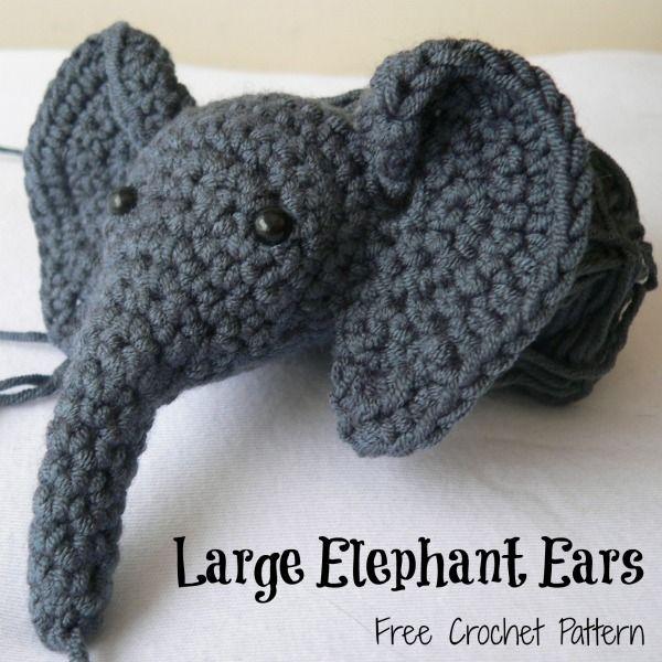 Free Crochet Pattern For Hat With Ears : 17 Best ideas about Crochet Elephant Pattern on Pinterest ...