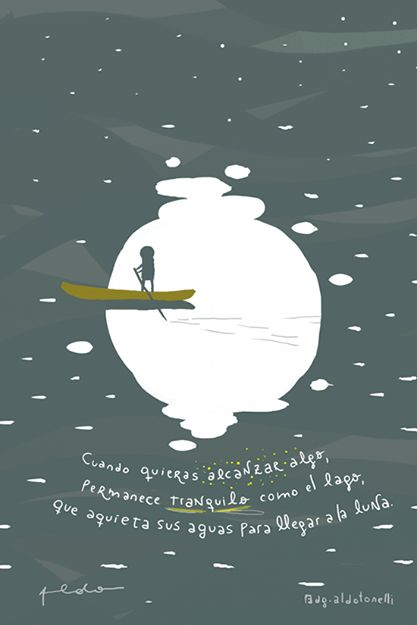 #quietud #luna #agua