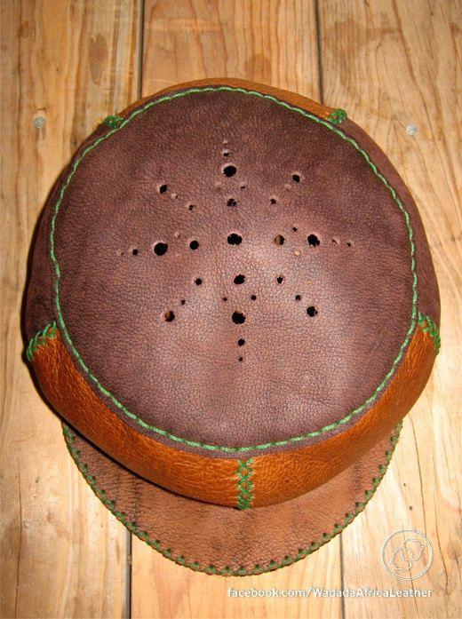Handmade Upcycled Deerskin African Rasta Crown Reggae Festival Cap Burning Man Eco Friendly 22 Inch Leather Hat by WadadaAfrica on Etsy