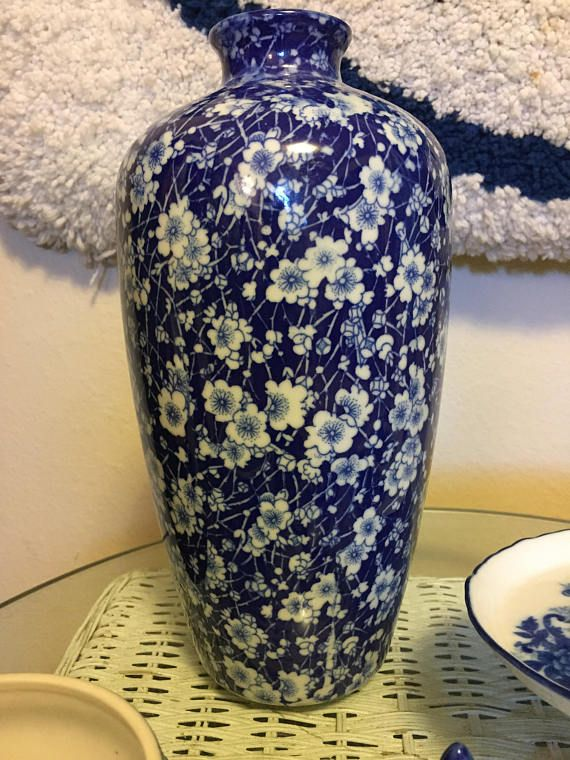 Vintage China Blue Vase By Seymour Mann Blue And White Porcelain