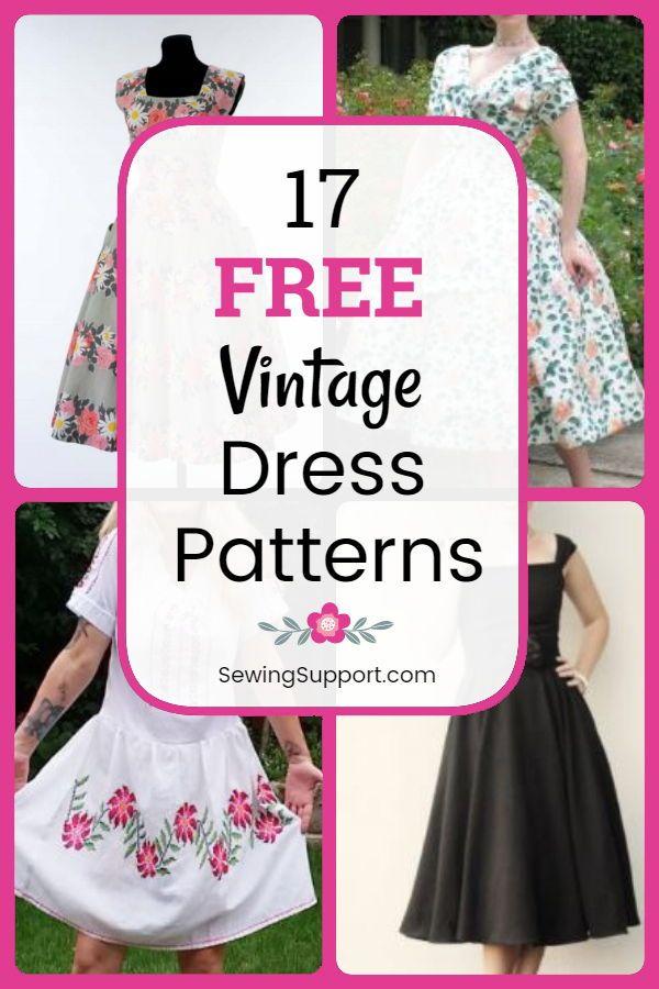Vintage Dress Patterns: 17 free vintage dress patt…