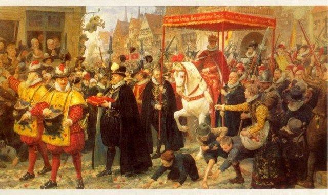 Otto Bache (1839–1927)-Coronation of Christian IV in 1596, 1887