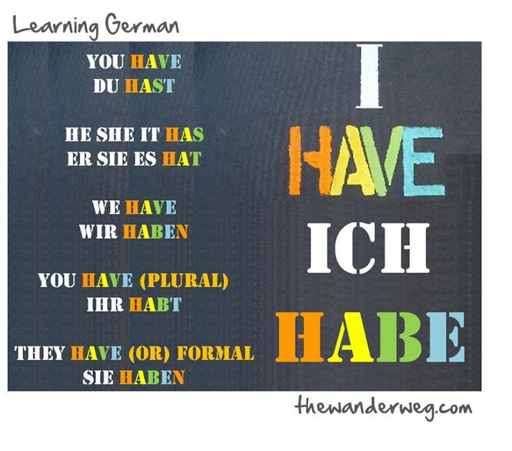 Learn german conjugation