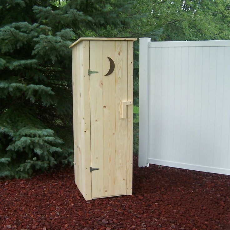 2 Ft. W x 2 Ft. D Wood Outhouse Storage Shed | Wayfair