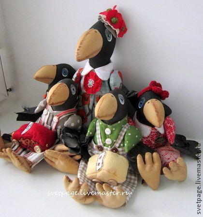 Счастливая семейка - ворона,подарок,подарок на любой случай,подарок на день…