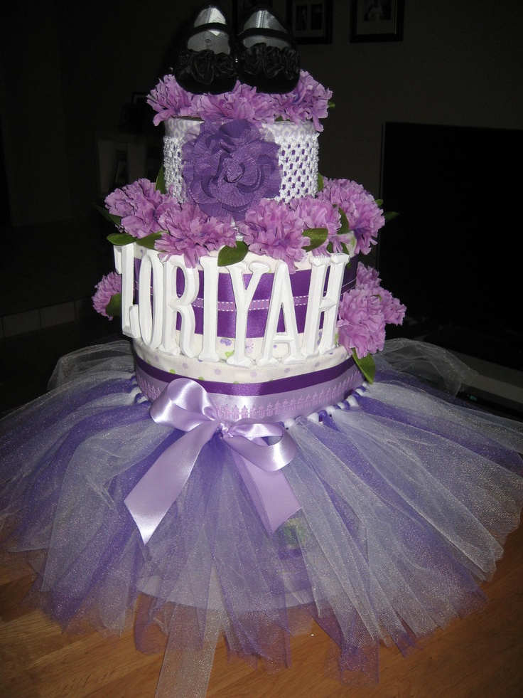 soo cake ideas purple tutu diaper cakes tutu diaper baby showers