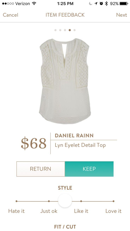 Daniel Rainn Lyn eyelet top. Stitch fix #3