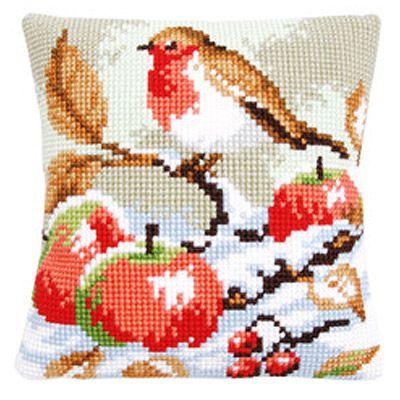 Набор для вышивания Подушки Vervaco Птичка и Яблоки PN-0144121