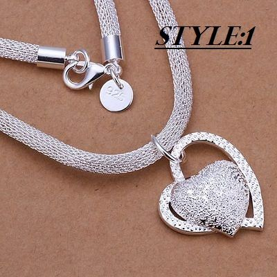 Be special: New Fashion 925 sterling Silver Charm Heart Pendan...