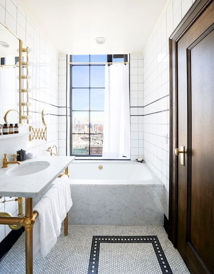 New York Is Calling The Best Hotels In Manhattan Period In 2020 Hotel Bathroom Design Bathroom Design Hotel Bathroom