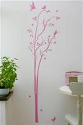 tall tree: Decor Ideas, Wall Decal, Pink Wall, Wall Stickers, Enchanted Trees, Baby Bedrooms, Trees Wall, Girls Rooms, Rooms Decor
