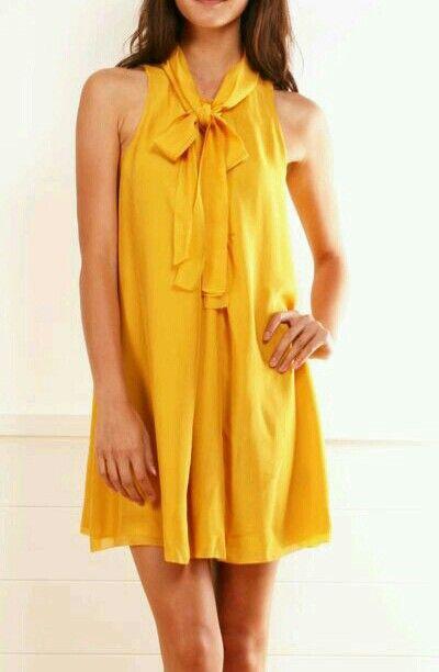 #vestido #mostaza