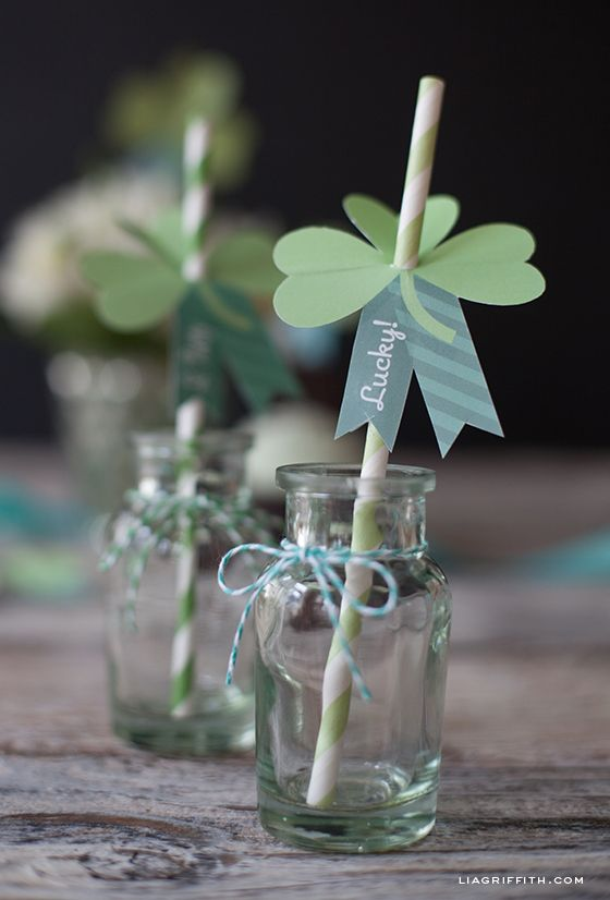 Printable Paper Shamrocks for Your St. Patrick's Day Celebration | Lia Griffith