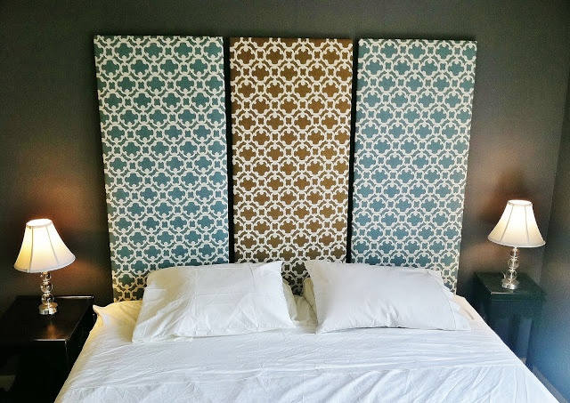 Upholstered Headboard Panels Diy: diy three panel upholstered headboard   Home Stuff   Pinterest    ,