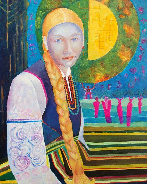 Girl portrait from Poland Polish girl oil original by TanabeStudio, zł2900.00