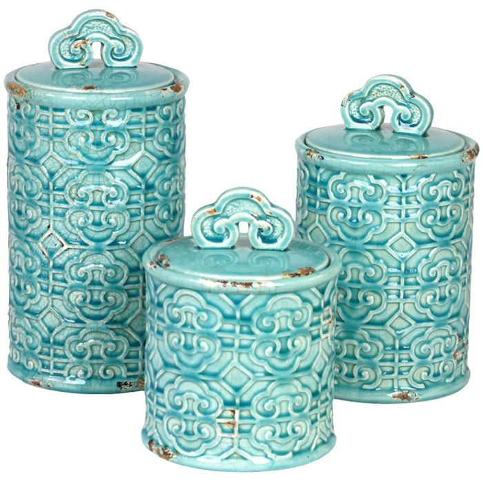 Aqua Kitchen Canister Sets