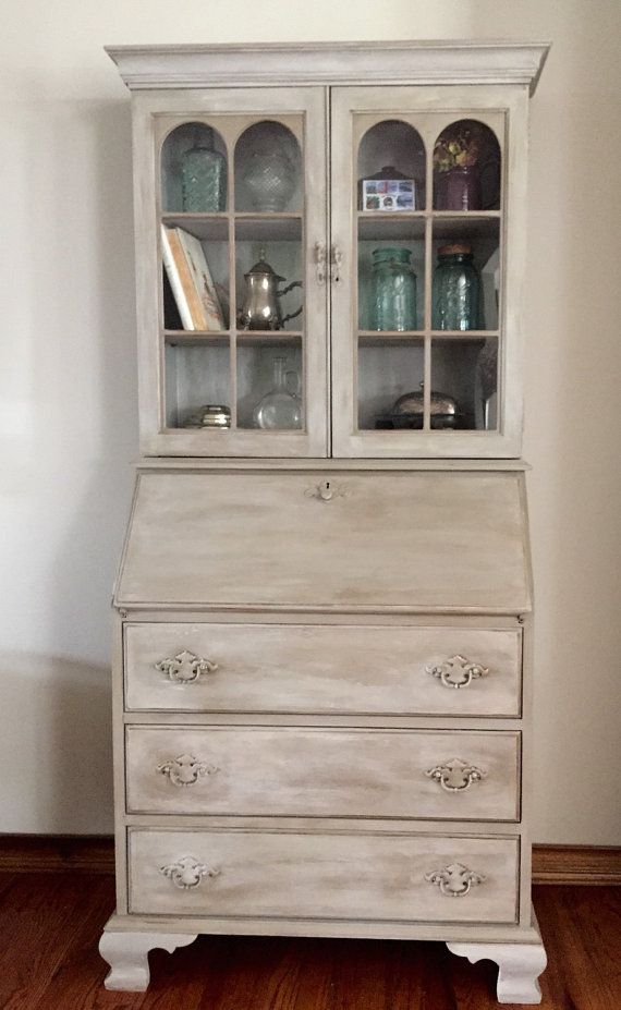 Vintage/Antique Secretary Desk/Hutch refinished by TheOpenedCocoon - Best 25+ Antique Secretary Desks Ideas On Pinterest Painted