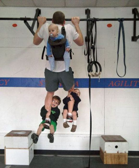 That's one way of doing weighted pull ups.