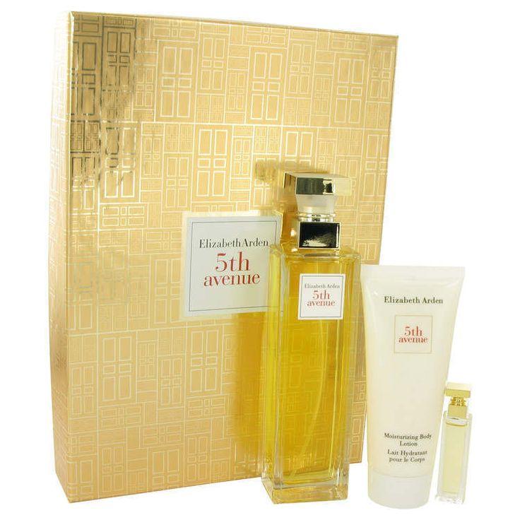 5TH AVENUE by Elizabeth Arden Gift Set EDP Spray + Mini + Body Lotion Perfume  #ElizabethArden