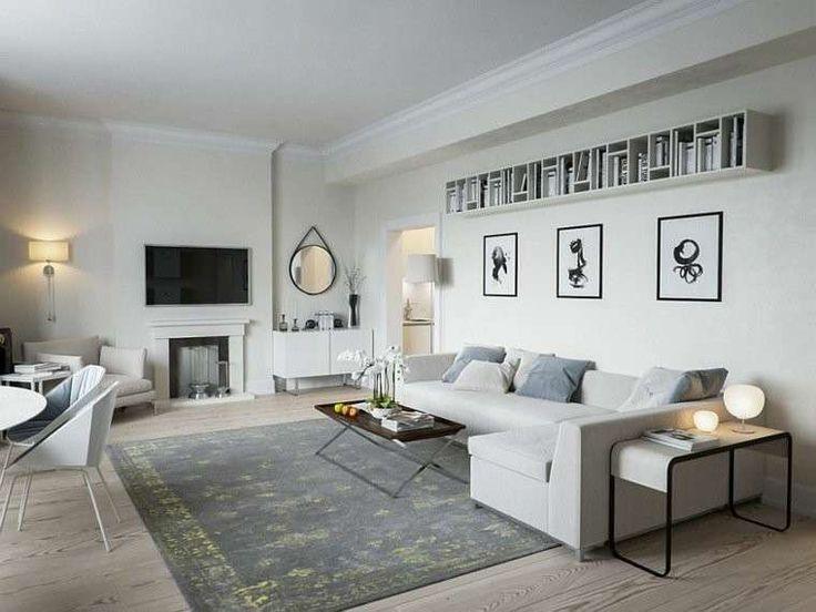 Arredare il soggiorno in stile scandinavo - Soggiorno scandinavo con divano bianco