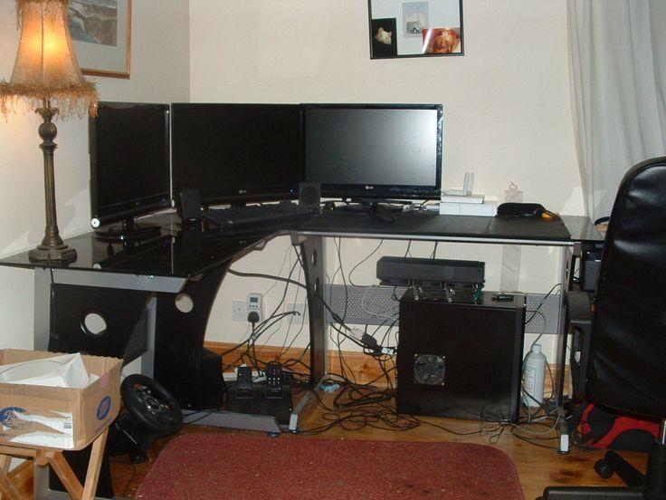 - Trendy Black Corner Desk