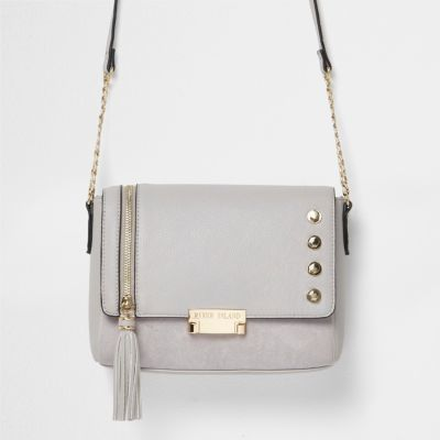 River Island Womens Grey tassel cross body bag