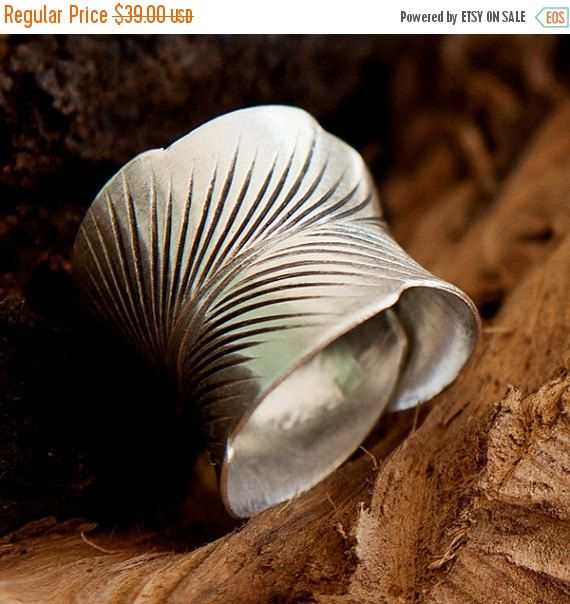 ON SALE 15% OFF Silver Ring Flower Ring Silver by RONIBIZA