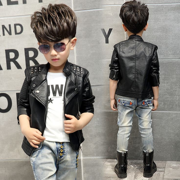 >> Click to Buy << Teenager Girl Boys Leather Jacket Boys Casual Black Solid Children Outerwear Kids Girls Coats Spring Leather Jackets 2017 New #Affiliate