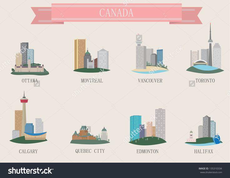 City Symbol. Canada. Vector Set F - 135310334 : Shutterstock