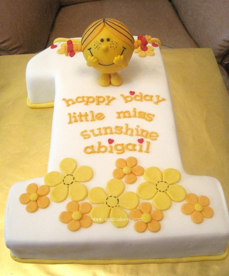 Mom & Daughter Cakes: Little Miss Sunshine No.1 Birthday Cake