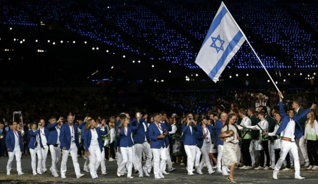 Team Israel marching in the London 2012 Opening Ceremony! Love those outfits <3