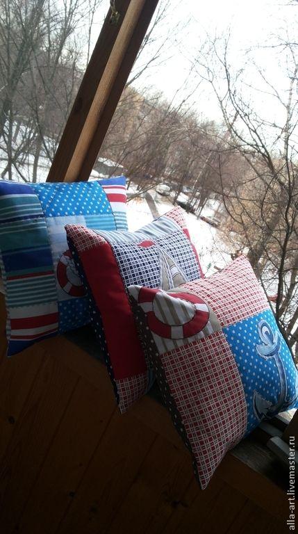 Морские истории, подушки - подушка морская, подушка в морском стиле, морская детская