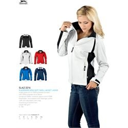 Branded Slazenger Apex Soft Shell Jacket - Ladies' | Corporate Logo Slazenger Apex Soft Shell Jacket - Ladies' | Corporate Clothing