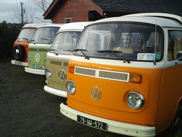 Retro Campervan Hire Ireland | VW Campervan Hire Ireland | VW Camper Rental | Campervan Hire. --> travelling through Ireland in one of those campers: amazing!