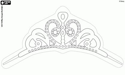 The Tiara Of Sofia Efc E A F P Coloring Pages Princess