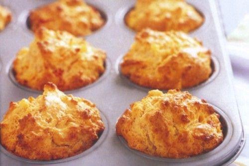 Kukoricás, sajtos muffin