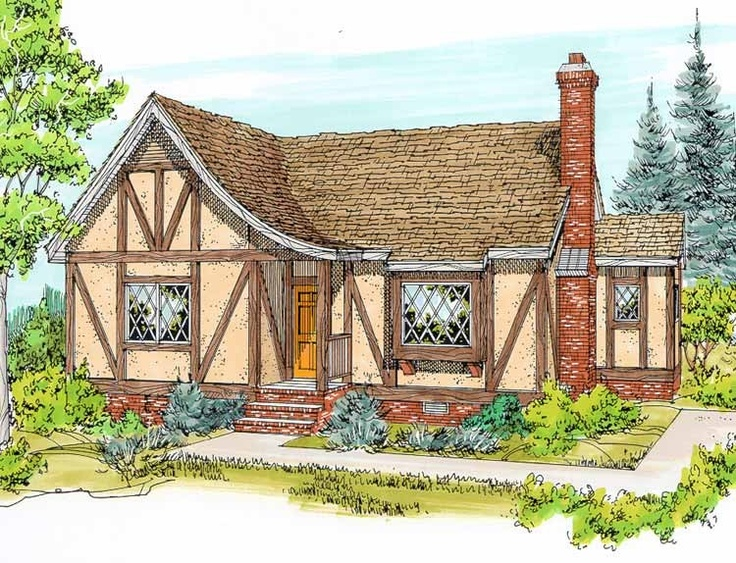 french country house plan with 995 square feet and 2 bedroomss from dream