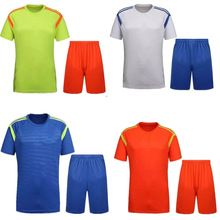 Customized design youth football jersey blank children soccer jerseys kids football kits