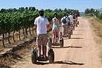 ECO-Discovery SEGWAY® Off-Road Tours, At a winery and still going in a straight line!!  LOL