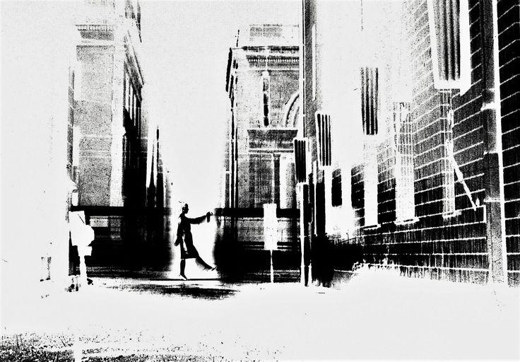 """山本悍右 From the series """" My Bench"""", 1963 . Kansuke Yamamoto, ©Toshio Yamamoto This series was published in the CAMERA GEIJUTSU (カメラ芸術 1964 4月号) April 1964."""