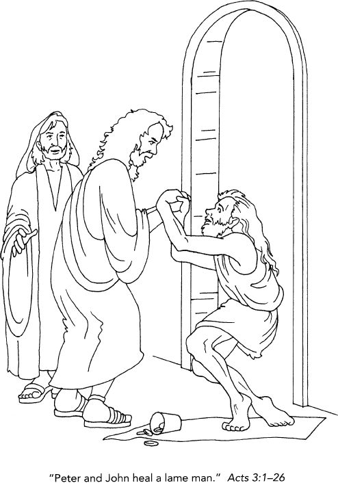 peter and john heal the lame man coloring page peter and john heal the cripple man children 39 s church