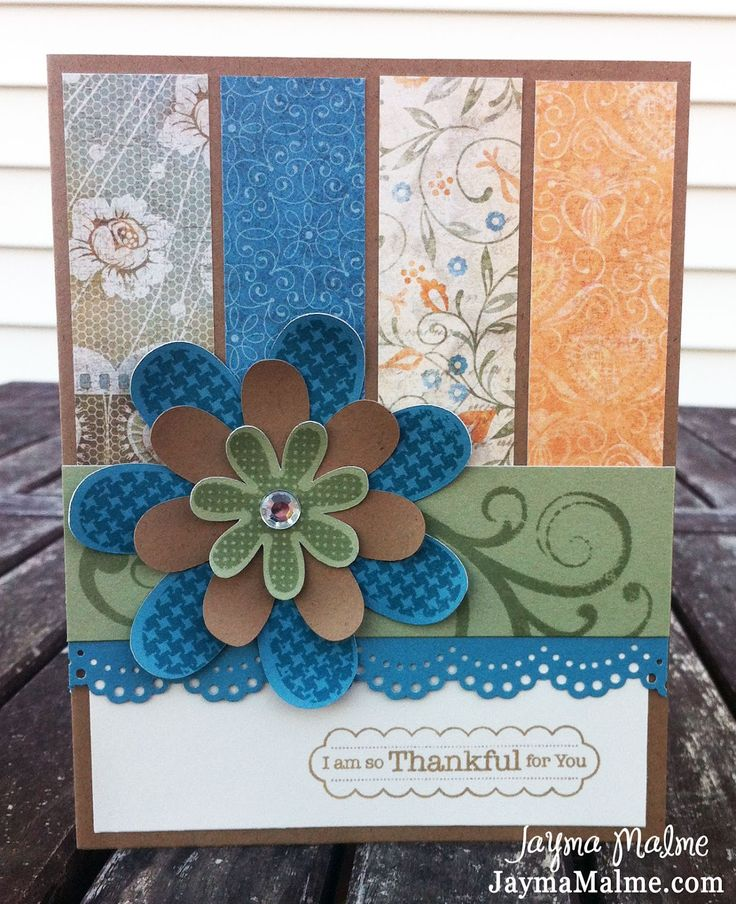 Playing with Paper: CTMH Scrapbooks, Cards & DIY: CTMH Florentine + Hooray Bouquet Thank You Card