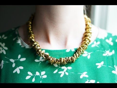 ▶ DIY Brass Chain Necklace - YouTube