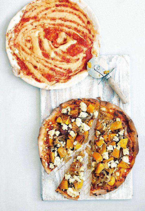 Feta-en-botterskorsie-pizza, Die feta-kaas op dié pizza is vir my veral lekker - jy hoef nie altyd mozzarellakaas te gebruik nie.