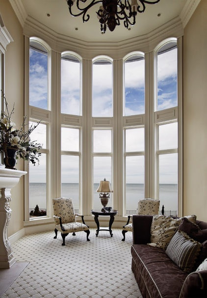 17 best images about bay windows on pinterest bay window - Living room with bay window ...