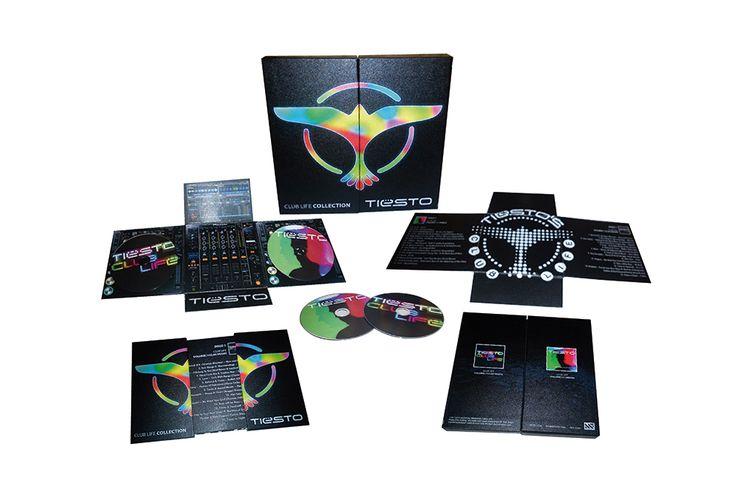 Propuesta de Pack de colección (caja + desplegable) con sus 2 últimos discos de TIESTO.