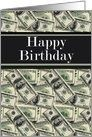 Happy Birthday Cash 100 dollar bills card – #bills…