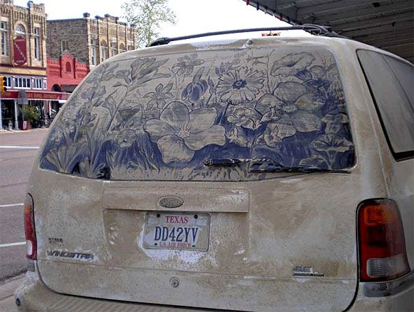 Best Dirty Car Art Images On Pinterest Lwren Scott Car - Scott wade makes wonderful art dusty car windows