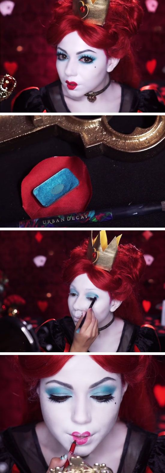Alice Through The Looking Glass - Red Queen Makeup | 15+ Easy Halloween Costumes…